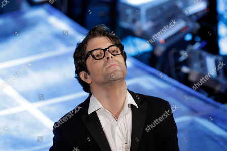 Stock Photo of Italian singer Samuele Bersani performs during the 62nd edition of the Sanremo Song Festival, in Sanremo, Italy