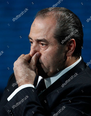"Antonio Di Pietro Italian politician Antonio Di Pietro attends the Italian State RAI TV program ""Che Tempo che Fa"", in Milan, Italy, Saturday, Jan.28, 2012. AP Photo/Luca Bruno"