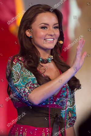 "Mexican actress Angelique Boyer, part of the cast of the new soap opera ""Abismo de Pasion"" or ""Abyss of Passion"" speaks during a presentation to the press at the Televisa network studios in Mexico City, Mexico, Wednesday, Jan . 18, 2012. The scenes of the novel were filmed in the Yucatan Peninsula, southeastern Mexico. The story is based on the 1996 soap opera, ""Cañaveral de Pasiones"" or ""Canefield of Passions"" and many scenes were filmed in the Yucatan Peninsula, southeastern Mexico"
