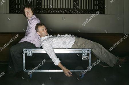 Comedians Steve Punt and Hugh Dennis