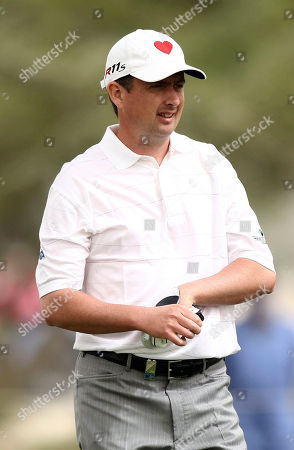 Peter Lawrie of Ireland looks on during the first round of the Qatar Masters tournment at Doha Golf Club