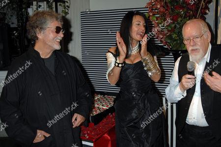 Justin De Villeneuve, Sue Timney and Sir Peter Blake