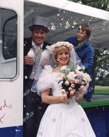 'Bernards Watch' - 1999 Owen Brenman as Mr Brin, Judy Flynn as Miss Minns and David Peachey as Bernard.