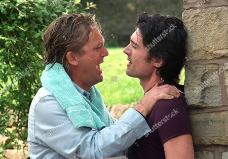 'Peak Practice' - 2001 Will Preston (Simon Shepherd) is goaded in a harrowing row by his son Tony (Adam Croasdell)