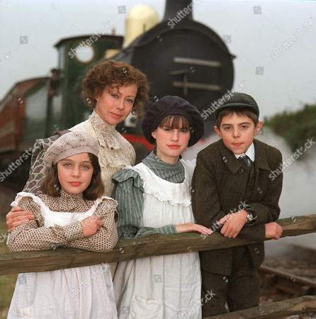 'The Railway Children' - 2000 Clare Thomas as Phyllis, Jenny Agutter as Mother, Jemima Rooper as Bobbie, and Jack Blumenau as Peter.