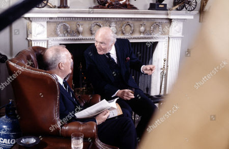 Joss Ackland (left) and John Horsley in 'Tales Of The Unexpected' - 1988 'The Colonel's Lady'