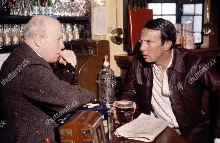 Stock Image of Patrick McAlinney and Anthony Valentine in 'Tales Of The Unexpected' - 1982 'The Absence Of Emily'