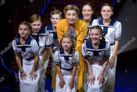 "Wietske van Tongeren Wietske van Tongeren in the role of Maria Rainer, center, performs with children during a dress rehearsal for the musical ""The Sound of Music"" by Richard Rogers in Salzburg, Austria. ""The Sound of Music,"" is playing for the first time in this haughty city of opera lovers"