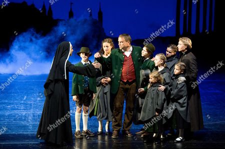 "Wietske van Tongeren, Frances Pappas, Uwe Kroeger Wietske van Tongeren, right, in the role of Maria Rainer, Frances Pappas as mother superior, left, and Uwe Kroeger as Captain Georg von Trapp, center, perform during a dress rehearsal for the musical ""The Sound of Music"" by Richard Rogers in Salzburg, Austria. ""The Sound of Music,"" is playing for the first time in this haughty city of opera lovers"