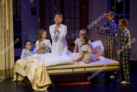 "Wietske van Tongeren Wietske van Tongeren, center, in the role of Maria Rainer performs with children during a dress rehearsal for the musical ""The Sound of Music"" by Richard Rogers in Salzburg, . Premiere is on Sunday, Oct. 23, 2011"