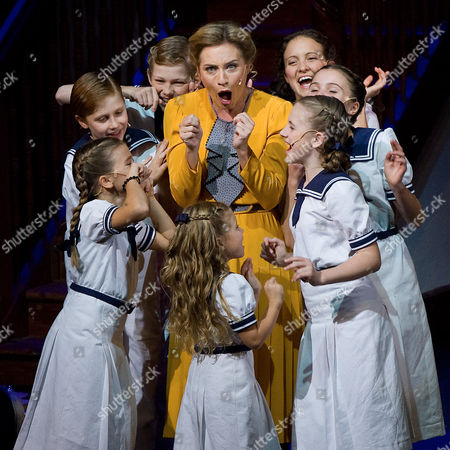 "Wietske van Tongeren Wietske van Tongeren in the role of Maria Rainer, center, performs with children during a dress rehearsal for the musical ""The Sound of Music"" by Richard Rogers in Salzburg, . Premiere is on Sunday, Oct. 23, 2011"