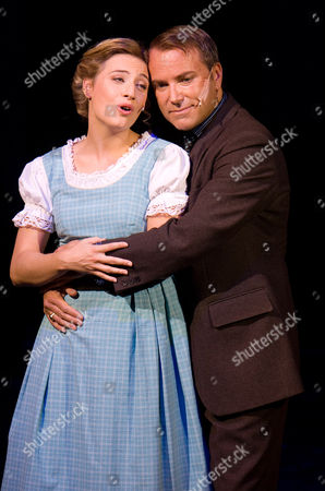 "Wietske van Tongeren, Uwe Kroeger Wietske van Tongeren, left, in the role of Maria Rainer and Uwe Kroeger as Captain Georg von Trapp perform during a dress rehearsal for the musical ""The Sound of Music"" by Richard Rogers in Salzburg, . Premiere is on Sunday, Oct. 23, 2011"