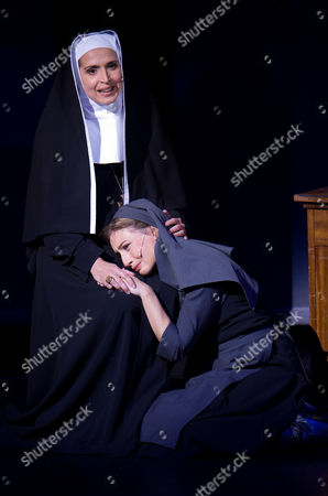 "Wietske van Tongeren, Frances Pappas Wietske van Tongeren, right, in the role of Maria Rainer and Frances Pappas as Mutter Oberin perform during a dress rehearsal for the musical ""The Sound of Music"" by Richard Rogers in Salzburg, . Premiere is on Sunday, Oct. 23, 2011"