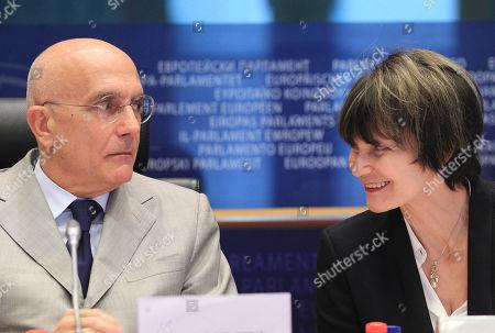 Editorial picture of Belgium EU Switzerland, Brussels, Belgium