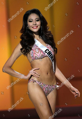 Miss China' Luo Zilin poses in her swimsuit during the Miss Universe preliminary competition event in Sao Paulo, Brazil, . Sao Paulo is hosting the Miss Universe 2011 pageant and will broadcast the contest on Sept. 12