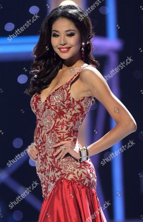 Miss China Luo Zilin wears an evening gown as she competes in the Miss Universe pageant in Sao Paulo, Brazil, . Zilin was named fourth runner up