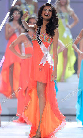 Miss Philippines Shamcey Supsup competes at the Miss Universe pageant in Sao Paulo, Brazil