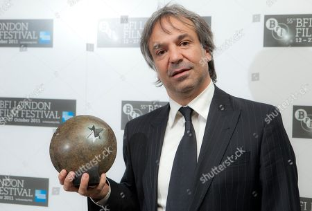 Pablo Giorgelli Argentinian Director Pablo Giorgelli holds the Sutherland Award for Las Acacias at the BFI 2011 London Film Festival Awards held at St Luke's in east London