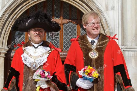 David Wootton, Michael Bear David Wootton, right, the newly elected Lord Mayor of the City of London, poses for members of the media, along with current Lord Mayor Michael Bear, left, outside London's Guildhall