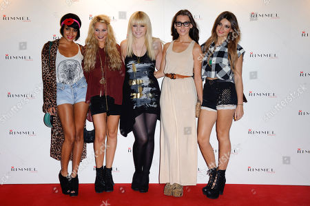 Sian Charlesworth, Emily Biggs, Bianca Claxton, Jessica Agombar, Lauren Deegan, Parade Sian Charlesworth, Emily Biggs, Bianca Claxton, Jessica Agombar and Lauren Deegan from the band Parade arrive for the Rimmel party at a central London venue