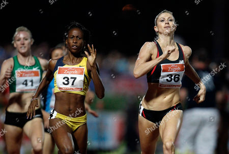 Maggie Vessey Maggie Vessey, right, of the U.S. runs to win the women's 800m run at the Zagreb Meeting IAAF World Challenge in Zagreb, Croatia