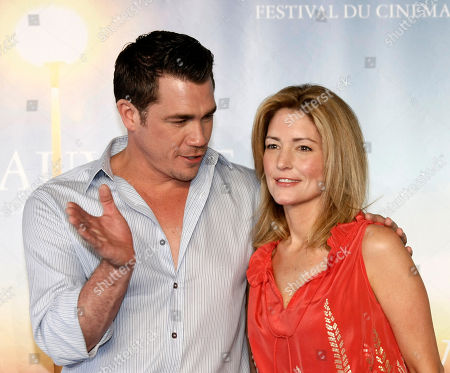 "Tate Taylor, Kathryn Stockett U.S Director Tate Taylor and U.S Screenwriter Kathryn Stockett pose for a photocall for their film ""The Help"" during the 37th American Film Festival in Deauville, Normandy, France"