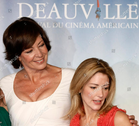 "Allison Janney, Kathryn Stockett U.S actress Allison Janney, left and U.S screenwriter Kathryn Stockett pose for a photocall for their film ""The Help"" during the 37th American Film Festival in Deauville, Normandy, France"