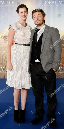 "Clay Jeter, Sarah Hagan U.S Actress Sarah Hagan and U.S Director Clay Jeter pose during a photocall for their film"" Jess+Moss"", at the 37th American Film Festival in Deauville, Normandy, France"