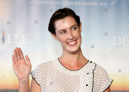 "Sarah Hagan U.S Actress Sarah Hagan poses during a photocall for her film"" Jess+Moss"", at the 37th American Film Festival in Deauville, Normandy, France"