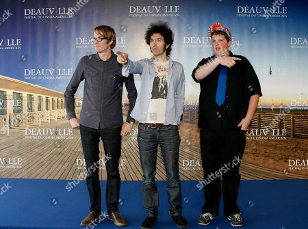"Jacob Wysocki, Azazel Jacobs, Patrick DeWitt U.S actor Jacob Wysocki, right, U.S director Azazel Jacobs, center, and U.S screenwriter Patrick DeWitt pose for photographers during a photocall for their film ""Another Happy Day"" at the 37th American Film Festival in Deauville, Normandy, France"