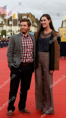 "Stock Picture of Clay Jeter, Sarah Hagan U.S director Clay Jeter, and U.S actress Sarah Hagan arrive for the screening of ""The Conspirator"" at the 37th American Film Festival in Deauville, Normandy, France"