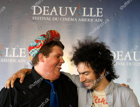 "Jacob Wysocki, Azazel Jacobs U.S actor Jacob Wysocki, left, and U.S director Azazel Jacobs pose for photographers during a photocall for their film ""Another Happy Day"" at the 37th American Film Festival in Deauville, Normandy, France"