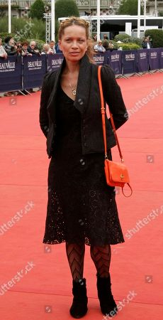 """Victoria Mahoney U.S. director Victoria Mahoney arrives for the screening of """"Trust"""" at the 37th American Film Festival in Deauville, Normandy, France"""