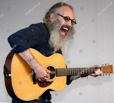 "Musician Tony U.S director and musician Tony Kaye poses during a photocall for his film ""Detachment"" at the 37th American Film Festival in Deauville, Normandy, France"