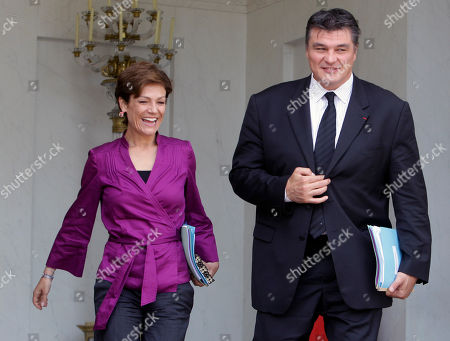 Chantal Jouanno Sports Minister Chantal Jouanno, left, smiles with Deputy Minister in charge of French Citizens living Abroad David Douillet, a former Judo World Champion, after the weekly cabinet at the Elysee Palace, in Paris