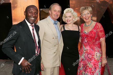 Derek Laud, Neil Hamilton, Marilyn Monroe lookalike Susie Kennedy and Christine Hamilton