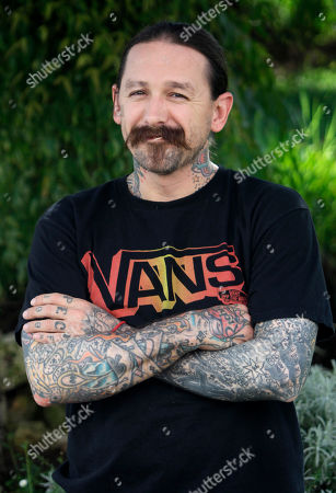Oliver Peck American tattoo artist Oliver Peck from Dallas, Texas, poses during the 27th MIPCOM (International Film and Programme Market for Tv, Video,Cable and Satellite) in Cannes, southeastern France