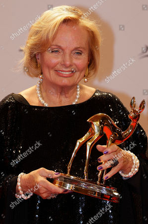 Ruth Maria Kubitschek German actress Ruth Maria Kubitschek poses with the trophy after he receiving the Bambi 2011 media award, in Wiesbaden, Germany