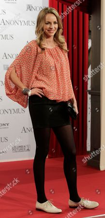 German actress Simone Hanselmann arrives for the Germany premiere of the movie 'Anonymus' in Berlin, Germany