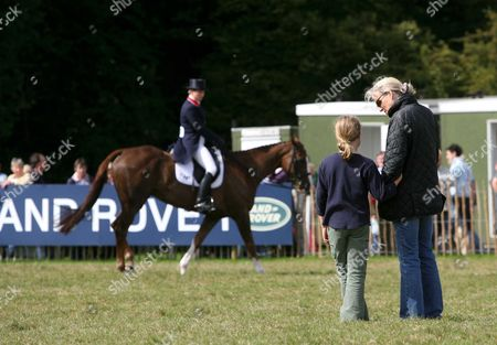 Zara Phillips was being watched by half sister Stephanie Phillips