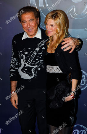 Steve Wynn Andrea Steve Wynn, American Las Vegas casino developer, entrepreneur and real estate businessman, left poses with his wife Andera during the wedding banquet of Coco Lee and Bruce Rockowitz at Shaw Studio in Hong Kong