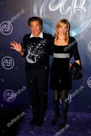 Steve Wynn Andrea Steve Wynn, American Las Vegas casino developer, entrepreneur and real estate businessman, left, poses with his wife Andera during the wedding banquet of Coco Lee and Bruce Rockowitz at Shaw Studio in Hong Kong