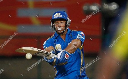 Stock Picture of Andrew Symonds Mumbai Indians' batsman Andrew Symonds bats during the Champions League Twenty20 cricket match against Cape Cobras in Bangalore, India