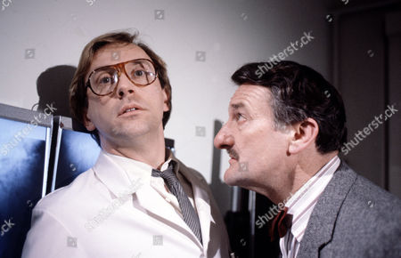 Peter Machin (left) and Peter Jeffrey in 'Tales Of The Unexpected' - 1982 Episode:'The Skeleton Key'