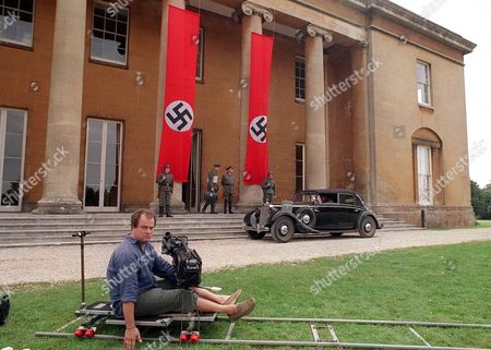 Stock Picture of 'When Hitler Invaded Britain' -  Christopher Titus King Outside the Berlin Hq, 2004