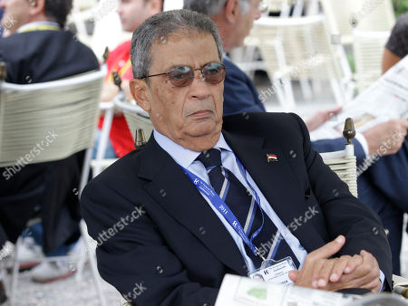 """Amre Moussa, secretary general of the League of the Arab States and candidate for the Egyptian presidential election to be held in autumn 2011, attends the """"Intelligence on the World, Europe, and Italy"""" economic forum, at Villa d'Este, in Cernobbio, on the Como Lake, Italy, . Finance ministers, bankers and economics debate the world's problems at private sessions on the first of a three-day annual forum at this Lake Como resort"""