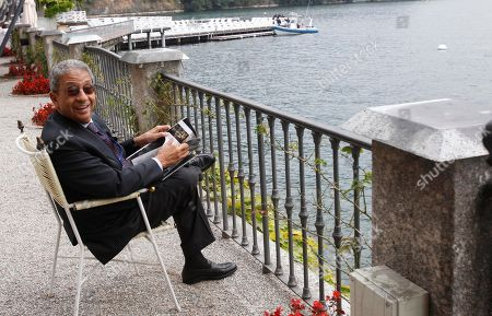 """Amre Moussa, secretary general of the League of the Arab States and candidate for the Egyptian presidential election to be held in autumn 2011 relaxes during the """"Intelligence on the World, Europe, and Italy"""" economic forum, at Villa d'Este, in Cernobbio, Como Lake, Italy, . Finance ministers, bankers and economics debate the world's problems at private sessions on the first of a three-day annual forum at this Lake Como resort"""