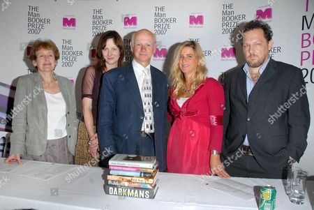 The Man Booker Prize 2007 Judges Wendy Cope, Ruth Scurr, Howard Davies, Imogen Stubbs, Giles Foden.