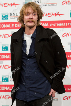"Stock Photo of Norwegian actor Kristoffer Joner poses during the photo call of the movie ""Babycall"", at the 6th edition of the Rome International Film Festival in Rome"