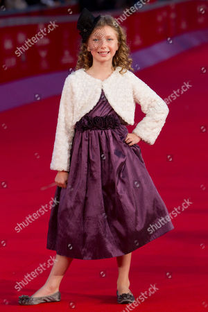 """British actress Isabella Blake Thomas poses on the red carpet of the movie """"Little Glory"""", at the 6th edition of the Rome International Film Festival in Rome"""